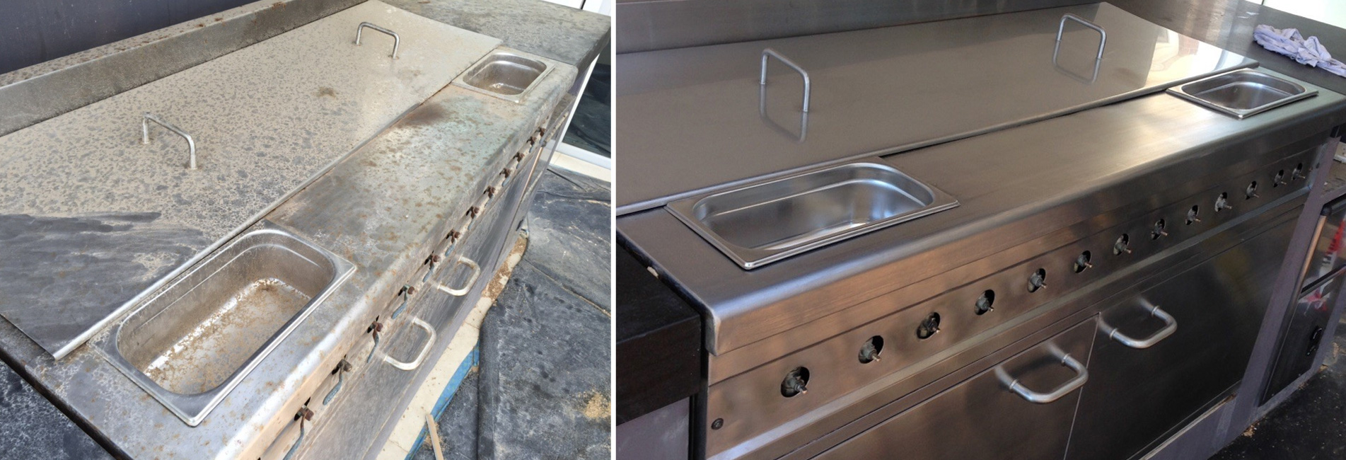 Stainless Steel Polishing Central Coast, Stainless Steel Cleaning Erina, Stainless Steel Scratch Removal Newcastle